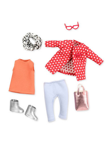 Lori Polka Dot Coat Doll Outfit-MULTI-One Size