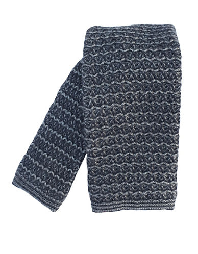 Impuntura Knit Wool Tie-GREY-One Size