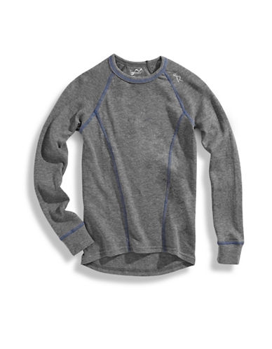 Watson'S Double Layer Long Sleeve Top-GREY-6-7 86404293_GREY_6-7