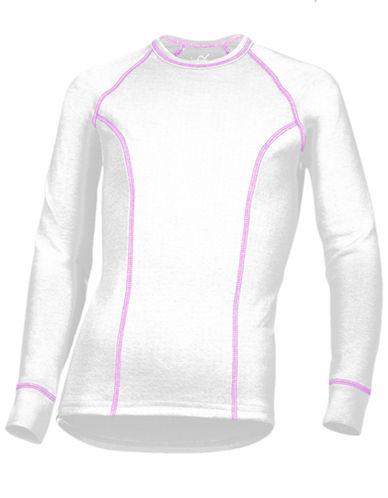 WatsonS Double Layer Long Sleeve Top-WHITE-Small