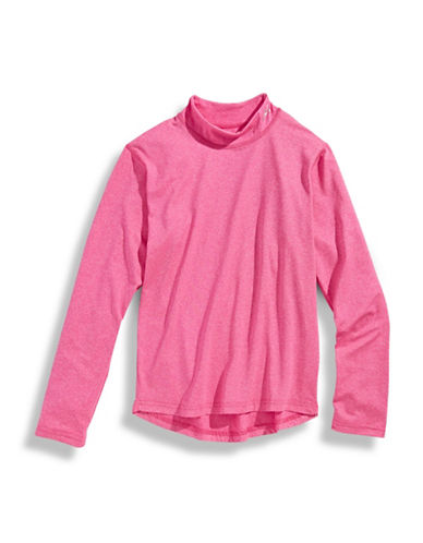 WatsonS Performance Long Sleeve Top-PINK-Small