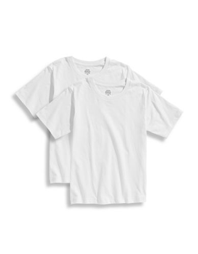 Jockey Boys 8 to 20 Two Pack T Shirt Set-WHITE-16