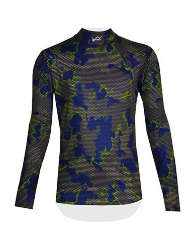 Watson'S Printed Performance Base Layer Top-BLUE-Small 88704331_BLUE_Small