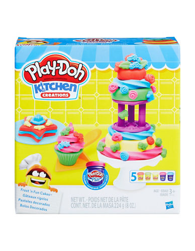 Play-Doh Kitchen Creations Frost 'n Fun Cakes-MULTI-One Size