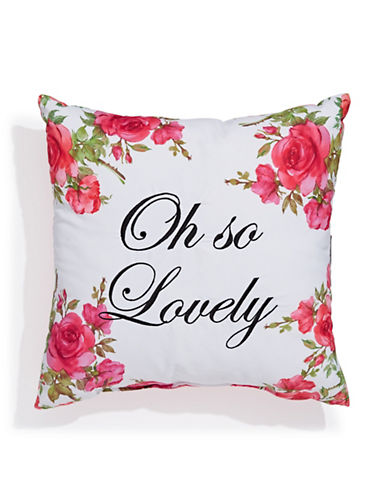 Dh Oh So Lovely Square Cushion-MULTI-16X16