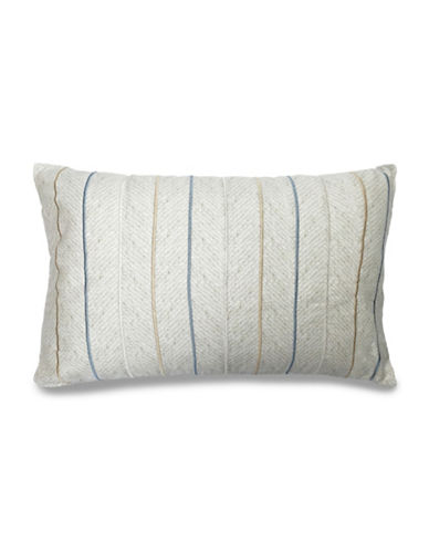 Nautica Cypress Point Marrow Stitched Herringbone Decorative Cushion-NATURAL-One Size