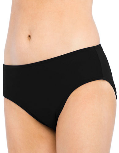Christina Blue Semi High Waist Bottom-BLACK-10