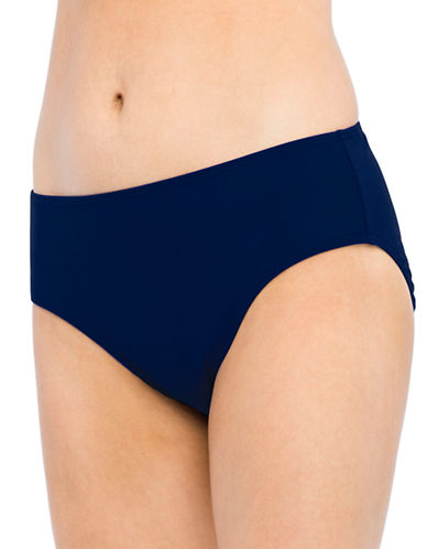Christina Blue Semi High Waist Bottom-NAVY-14