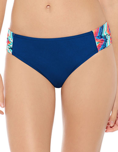 Captiva Aqualina Shirring Hipster Bikini Briefs-BLUE-X-Large