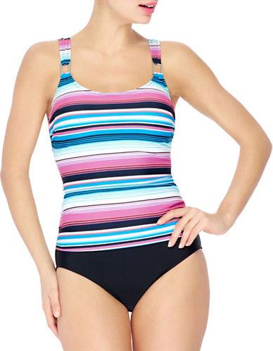 Christina Blue One-Piece Drop Waist Swimsuit-PINK-8 88448205_PINK_8
