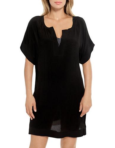 Christina Woven Tunic-BLACK-Large
