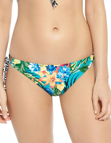 Captiva Beach Key Floral-Print Bikini Bottom-TURQUOISE-X-Large