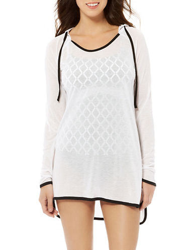 Captiva Navagio Hooded Tunic-WHITE-Large