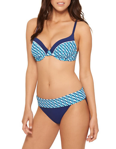 Captiva Sanibel Bay Bikini Top-BLUE-Medium