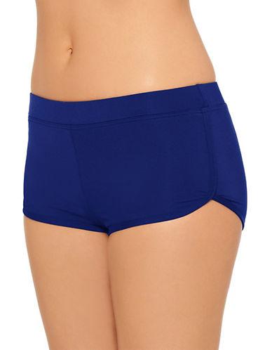 Captiva Drawstring Boyleg Shorts-NAVY-Medium
