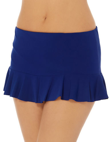 Captiva Island Frill Skirted Bottom Swim Briefs-NAVY-Medium
