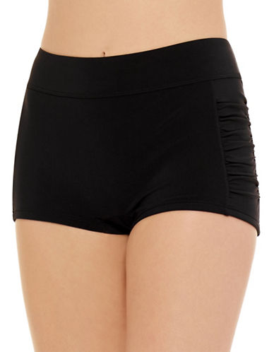 Christina Ruched Boyshort-BLACK-16