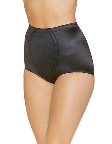 WarnerS Classic In Control High Waisted Full Brief-BLACK-XX-Large