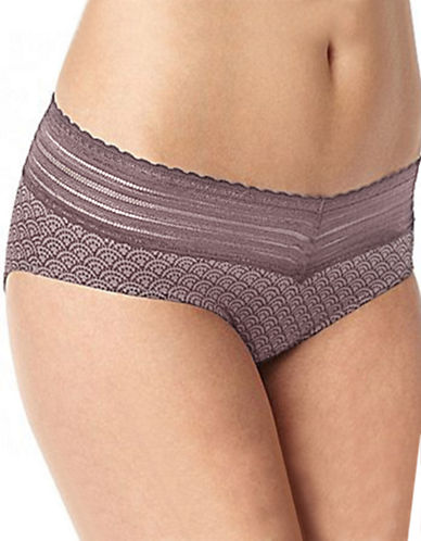 WarnerS No Pinch Lace Hipster Panty-MINK-Medium