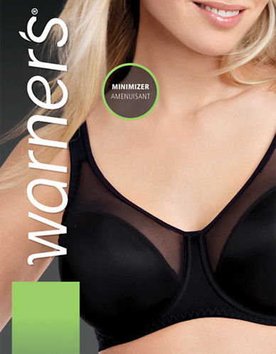 WarnerS 3544 Firm-Support Minimizer Bra-BLACK-36D