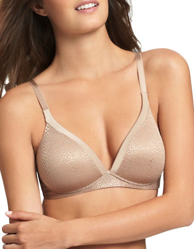 Warner'S Stretch Strap Contour Lift Bra-TOASTED ALMOND-38C