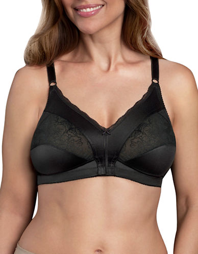 WarnerS 1744 Firm Support Wirefree Bra-BLACK-38D