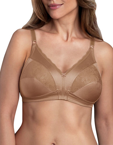 WarnerS 1744 Firm Support Wirefree Bra-BROWN-38D