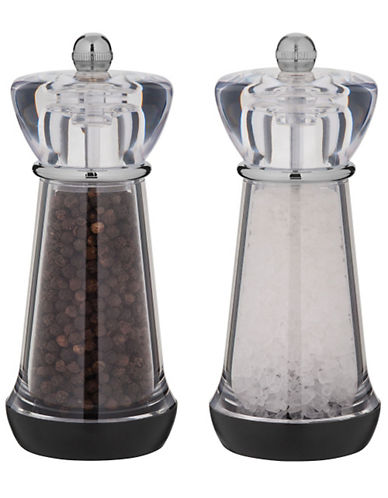 Trudeau Trudeau Pepper Mill and Salt Mill 6In-CLEAR-One Size