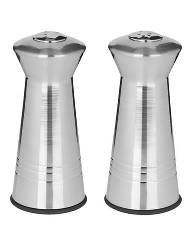 Trudeau Tower Salt & Pepper Shakers-SILVER-One Size