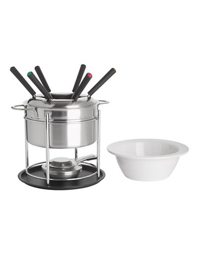 Trudeau 3-in-1 Stainless Steel Fondue Set-SILVER-One Size