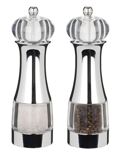 Trudeau Malia Pepper Mill & Salt Shaker-CLEAR-One Size