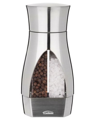 Trudeau 2 Mills In 1 Manual 6 Inch Pepper Mill And Salt Mill-SILVER-One Size