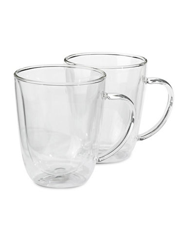 Trudeau Seat of Two Double Wall Mugs-NO COLOUR-One Size 86484687_NO COLOUR_One Size