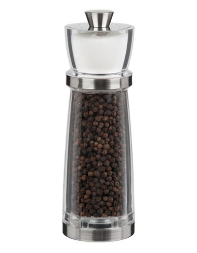 Trudeau Combo Pepper Mill with Salt Shaker-CLEAR-One Size