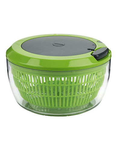 Trudeau Cordless 3 in 1 Salad Spinner-GREEN-One Size