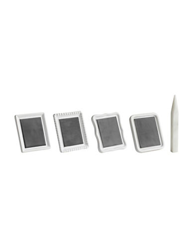 Trudeau Five-Piece Cheese Markers and Chalk Set-WHITE-4pc