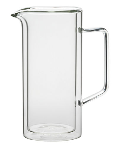 Trudeau Duetto Double Wall  1-Litre Pitcher-CLEAR-One Size