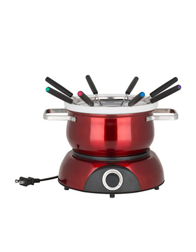 Trudeau Scarlet 3-in-1 Stainless Steel Electric Fondue-RED-One Size 90033545_RED_One Size