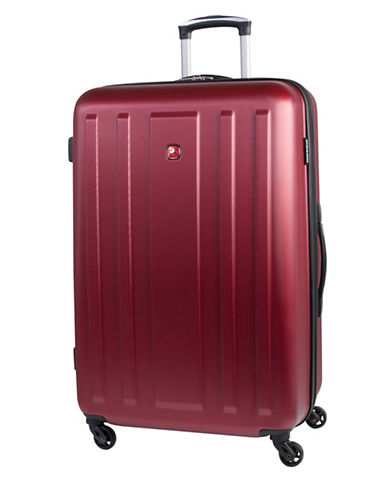 Swiss Gear La Sarinne Lite Four-Wheel Hardside 28-Inch Spin Suitcase-RED-28
