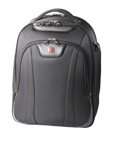 Swiss Gear Slim RFID-Blocking Backpack-BLACK-18