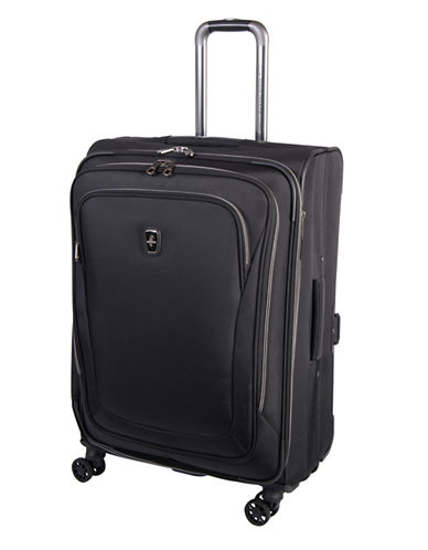 Atlantic Luggage Unite 2 24-Inch Expandable Spinner Suitcase-BLACK-24