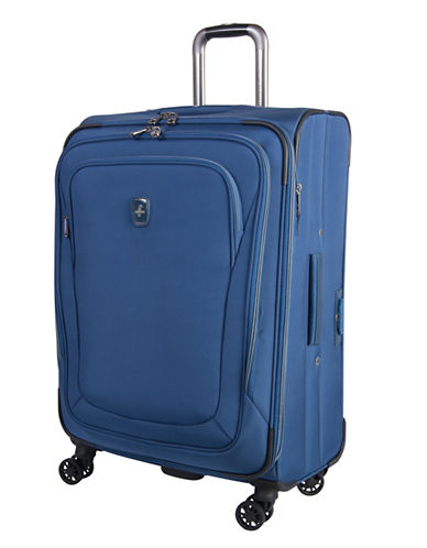 Atlantic Luggage Unite 2 24-Inch Expandable Spinner Suitcase-BLUE-24