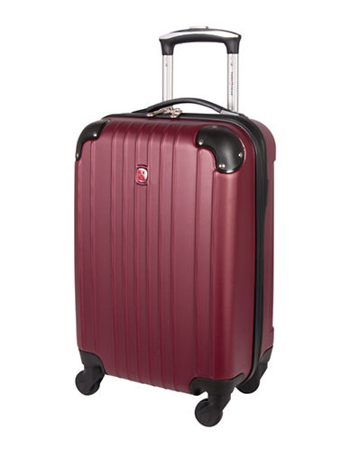 Swiss Gear Passport 21-Inch Carry-On 360 Degree Spinner Suitcase-RED-20