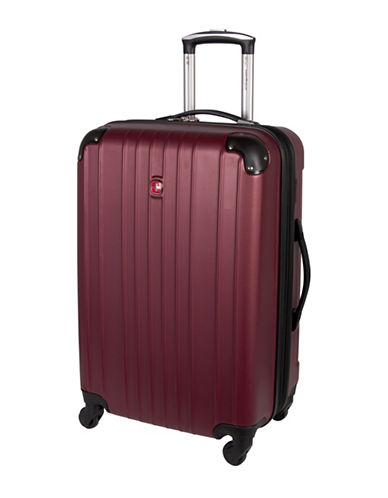 Swiss Gear Passport 24-Inch Expandable Spinner Suitcase-RED-24