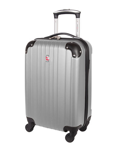 Swiss Gear Passport 21-Inch Carry-On 360 Degree Spinner Suitcase-SILVER-20
