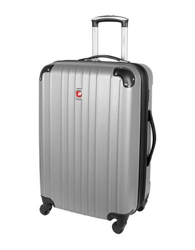 Swiss Gear Passport 24-Inch Expandable Spinner Suitcase-SILVER-24