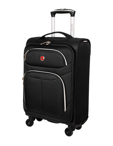 Swiss Gear Light Flyer 21-Inch Carry-On Spinner Suitcase-BLACK-20