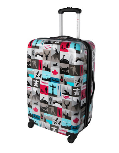 Atlantic Canadiana 24-Inch Hardside Spinner Suitcase-MULTI-24