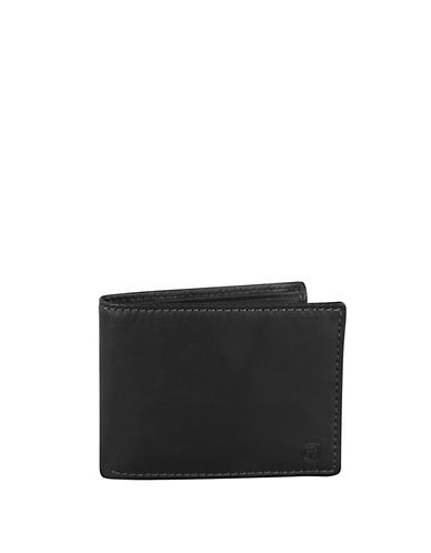 Swiss Wenger Boxed Slim Leather Wallet-BLACK-One Size