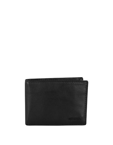 Swiss Wenger Boxed Leather Wallet with Removable Passcase-BLACK-One Size